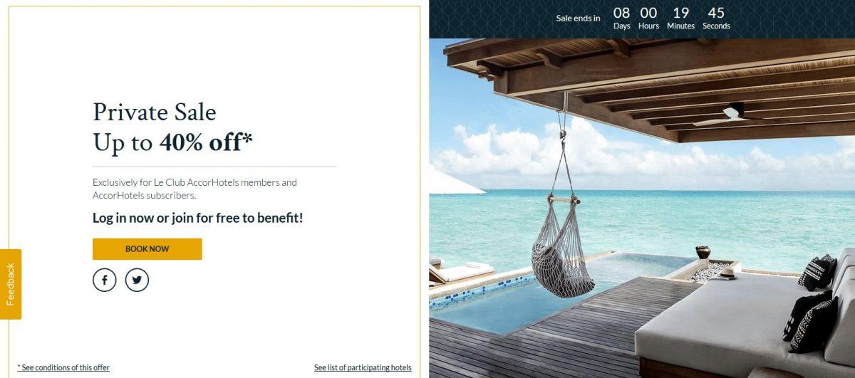 Le Club AccorHotels จัดโปรโมชั่น Private Sale รับส่วนลดสูงสุดถึง 50% จองภายใน 28 มี.ค. 62