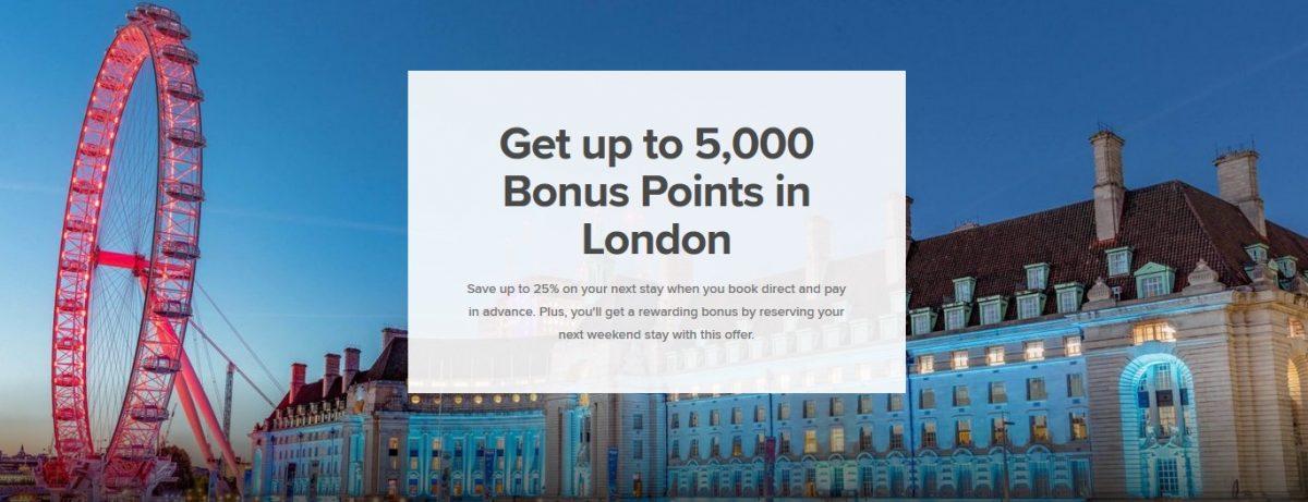 Marriott Bonvoy รับคะแนนโบนัสสูงสุดถึง 5,000 คะแนน เมื่อเข้าพักในลอนดอน ถึง 31 ธ.ค. 62